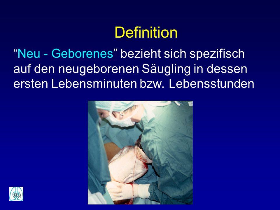 Neu - Geborenes bezieht sich spezifisch auf den neugeborenen Säugling in dessen ersten Lebensminuten bzw. Lebensstunden Definition