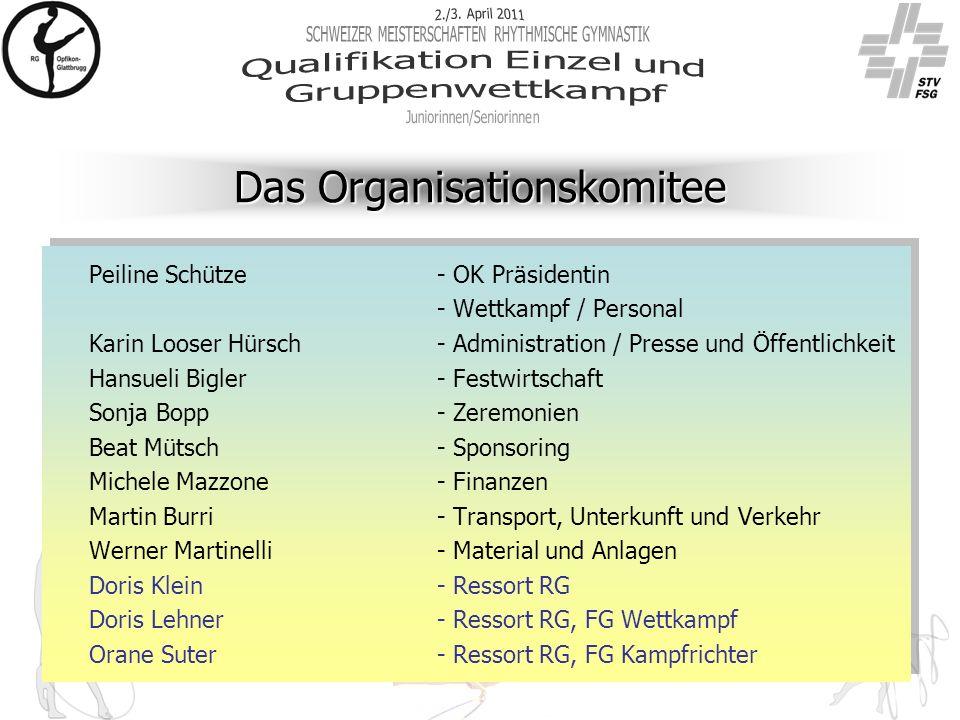 Das Organisationskomitee Peiline Schütze- OK Präsidentin - Wettkampf / Personal Karin Looser Hürsch- Administration / Presse und Öffentlichkeit Hansue