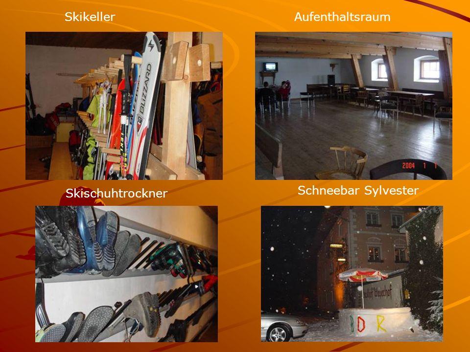 Skikeller Schneebar Sylvester Aufenthaltsraum Skischuhtrockner