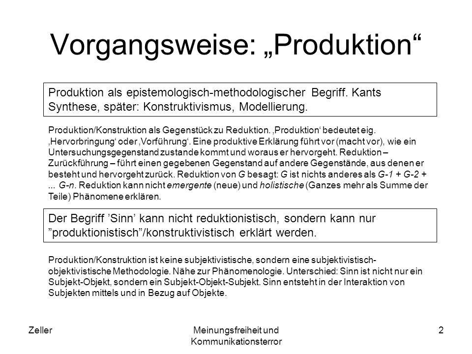 ZellerMeinungsfreiheit und Kommunikationsterror 3 Philosophie als Sinngebung Robert Musil: Sinngebung als Aufgabe der Literatur (vgl.