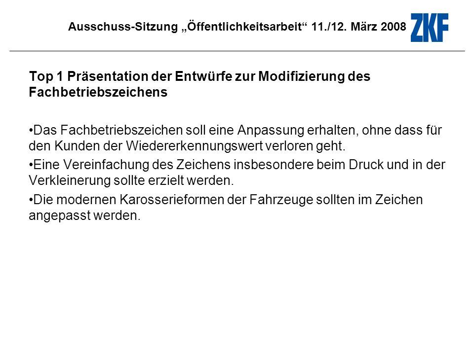 Ausschuss-Sitzung Öffentlichkeitsarbeit 11./12. März 2008 Thema: Lack und Glas