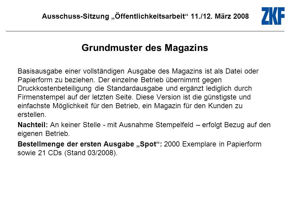 Ausschuss-Sitzung Öffentlichkeitsarbeit 11./12. März 2008 Spot 1 Verfolgungsjagd
