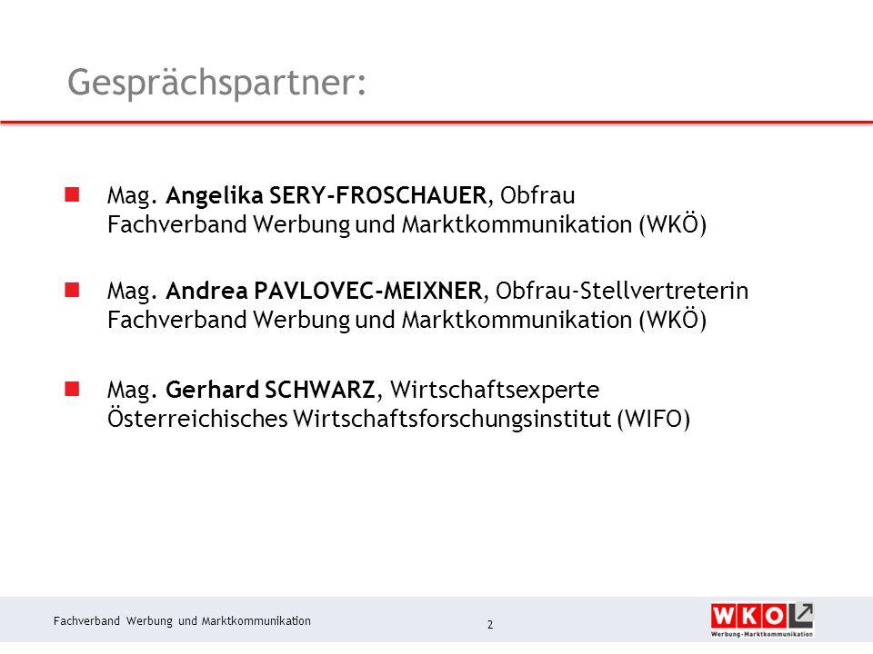 Fachverband Werbung und Marktkommunikation Werbeklimaindex 1.