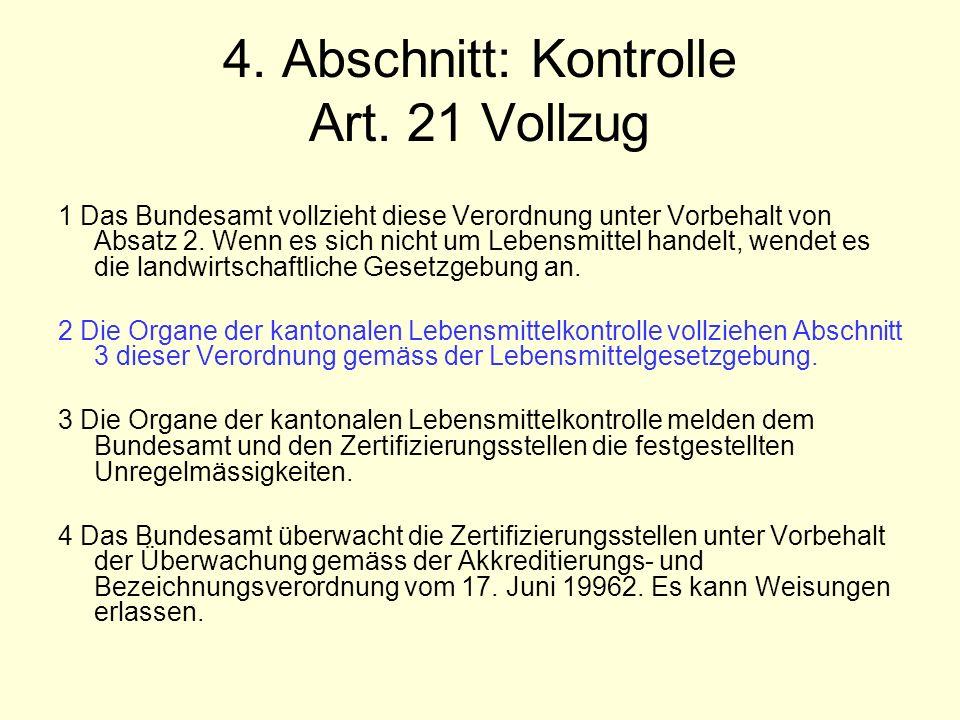 4. Abschnitt: Kontrolle Art.