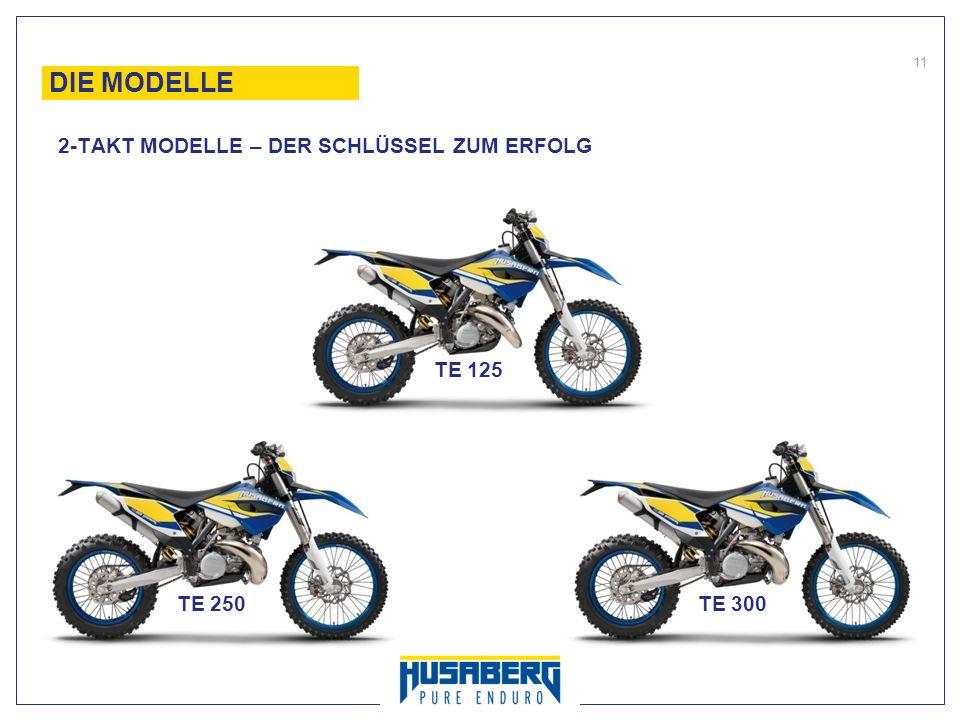 11 DIE MODELLE 2-TAKT MODELLE – DER SCHLÜSSEL ZUM ERFOLG TE 125 TE 250TE 300