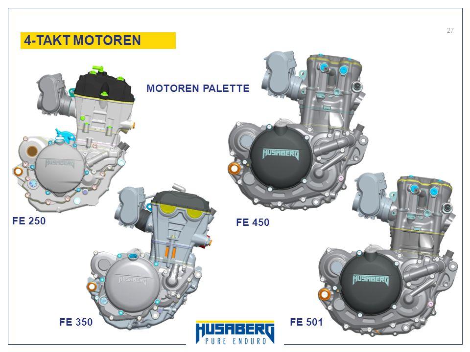 27 FE 250 FE 350 FE 450 FE 501 4-TAKT MOTOREN MOTOREN PALETTE