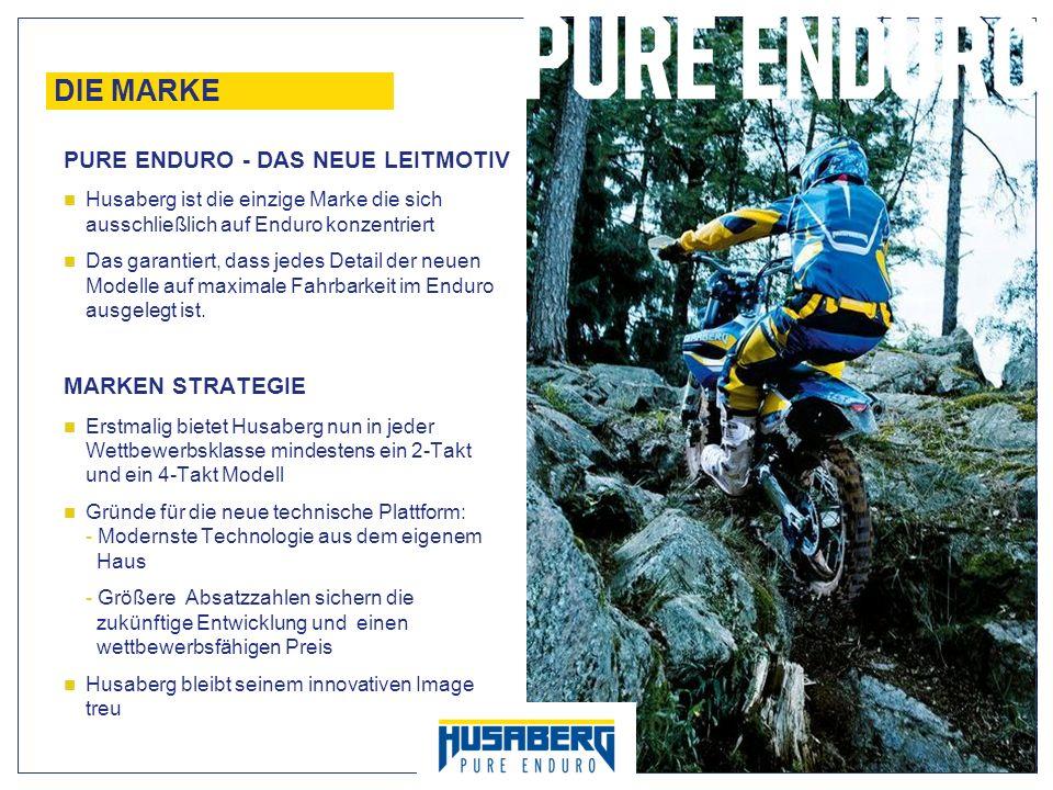 4 DIE MARKE Husaberg ist die einzige Marke die sich ausschließlich auf Enduro konzentriert Das garantiert, dass jedes Detail der neuen Modelle auf max