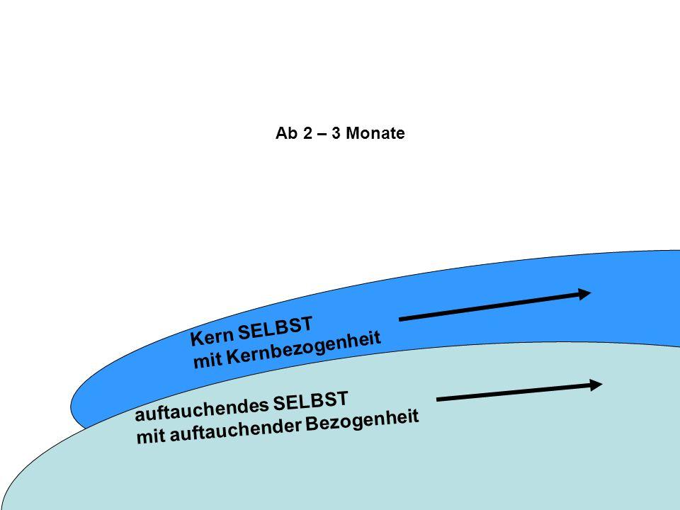 Kern SELBST mit Kernbezogenheit Ab 2 – 3 Monate auftauchendes SELBST mit auftauchender Bezogenheit
