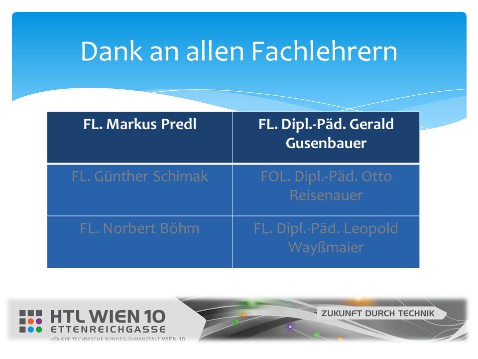 FL. Markus PredlFL. Dipl.-Päd. Gerald Gusenbauer FL. Günther SchimakFOL. Dipl.-Päd. Otto Reisenauer FL. Norbert BöhmFL. Dipl.-Päd. Leopold Wayßmaier D