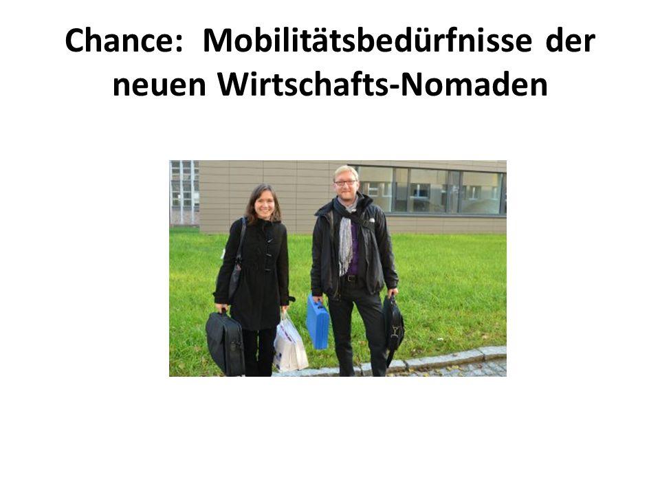 Chance: Mobilitätsbedürfnisse der neuen Wirtschafts-Nomaden