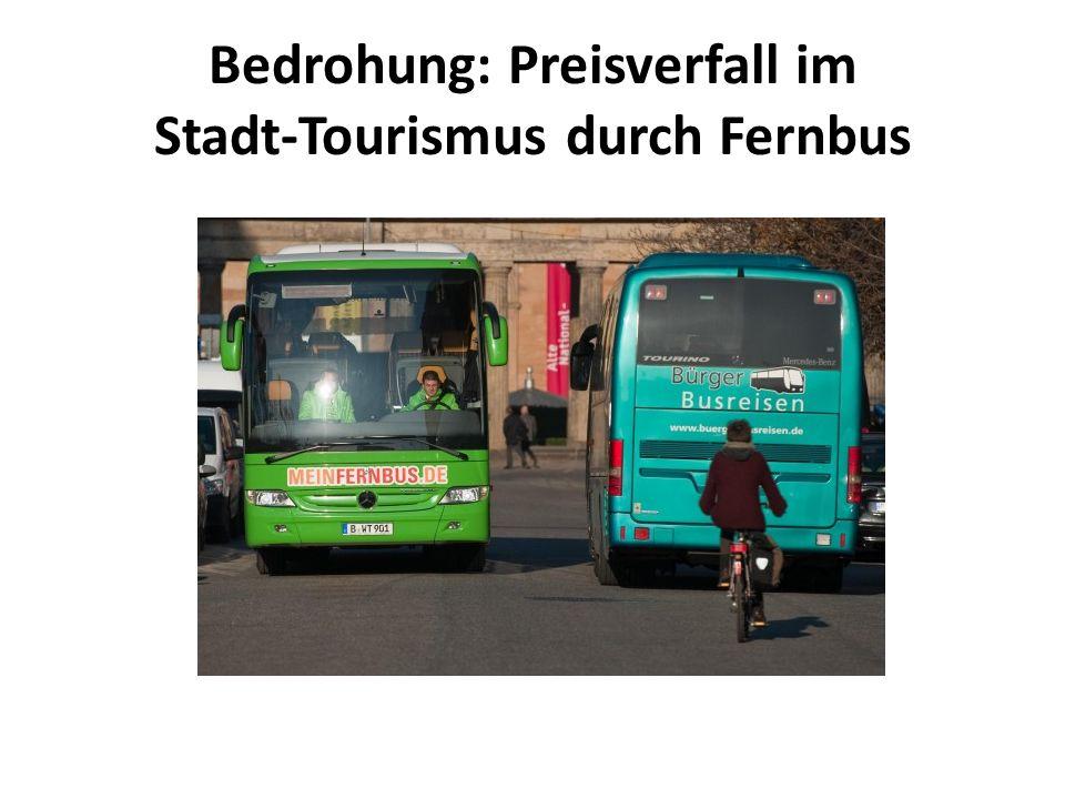 Bedrohung: Preisverfall im Stadt-Tourismus durch Fernbus