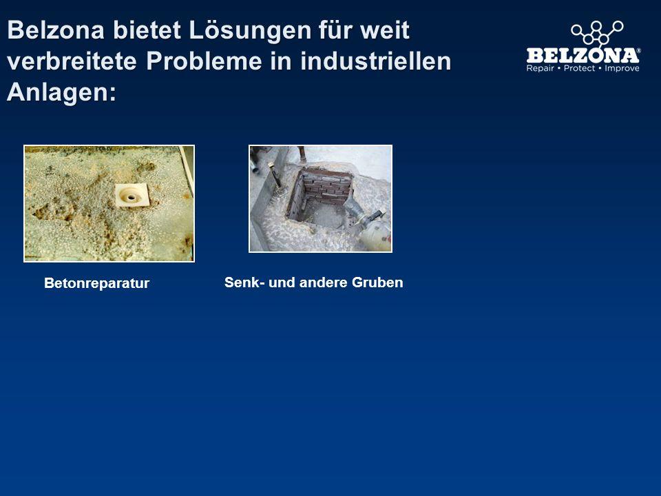 Belzona bietet Lösungen für weit verbreitete Probleme in industriellen Anlagen: Betonreparatur Senk- und andere Gruben