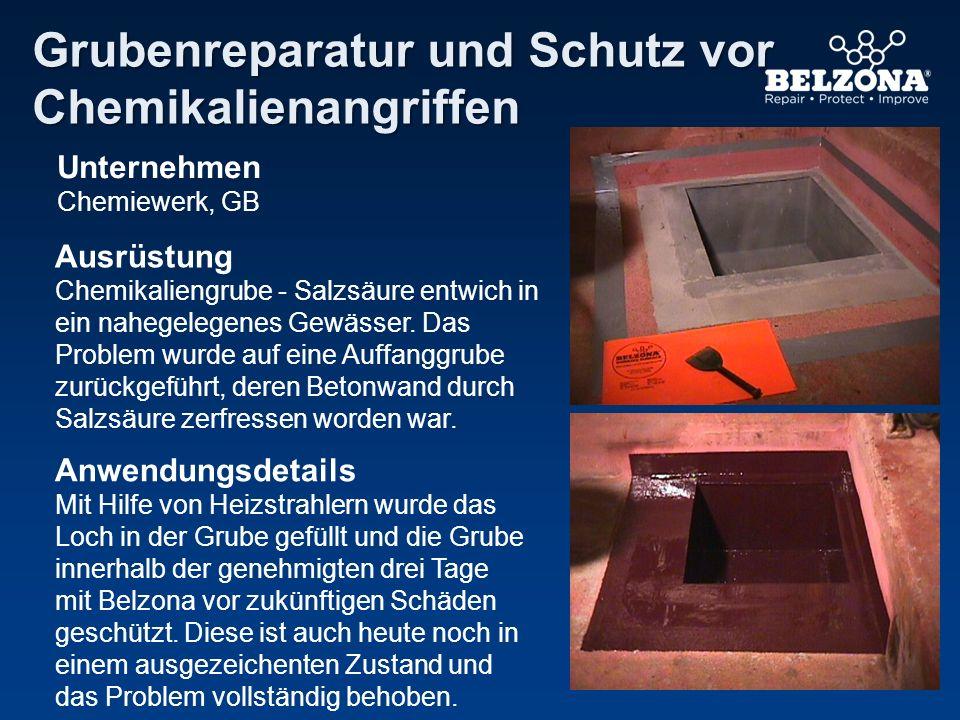Unternehmen Chemiewerk, GB Ausrüstung Chemikaliengrube - Salzsäure entwich in ein nahegelegenes Gewässer. Das Problem wurde auf eine Auffanggrube zurü
