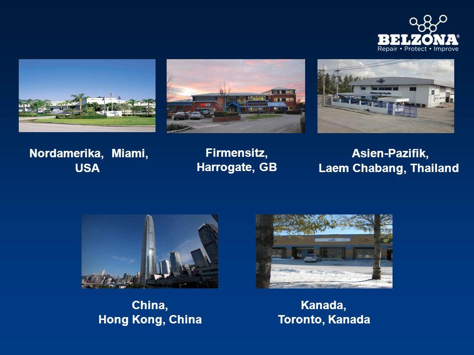 Nordamerika, Miami, USA Asien-Pazifik, Laem Chabang, Thailand Kanada, Toronto, Kanada China, Hong Kong, China Firmensitz, Harrogate, GB