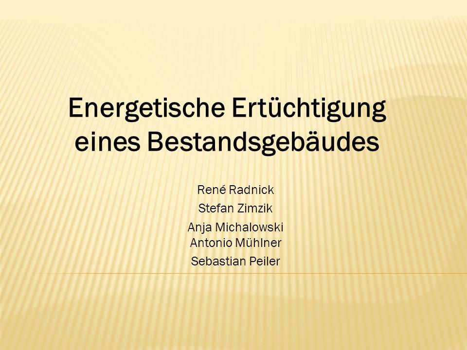 René Radnick Stefan Zimzik Anja Michalowski Antonio Mühlner Sebastian Peiler Energetische Ertüchtigung eines Bestandsgebäudes