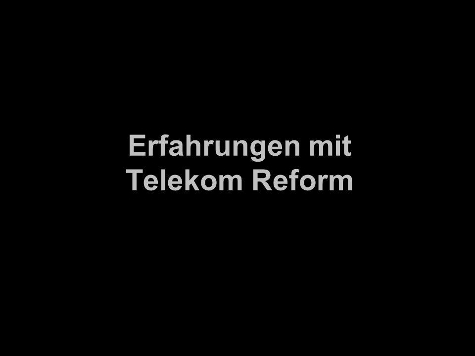 Erfahrungen mit Telekom Reform