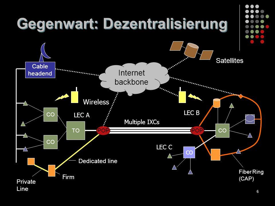27 Breitband & Informationsdienste Per 100,000 Einwohner (2000) Source: OECD, 2001