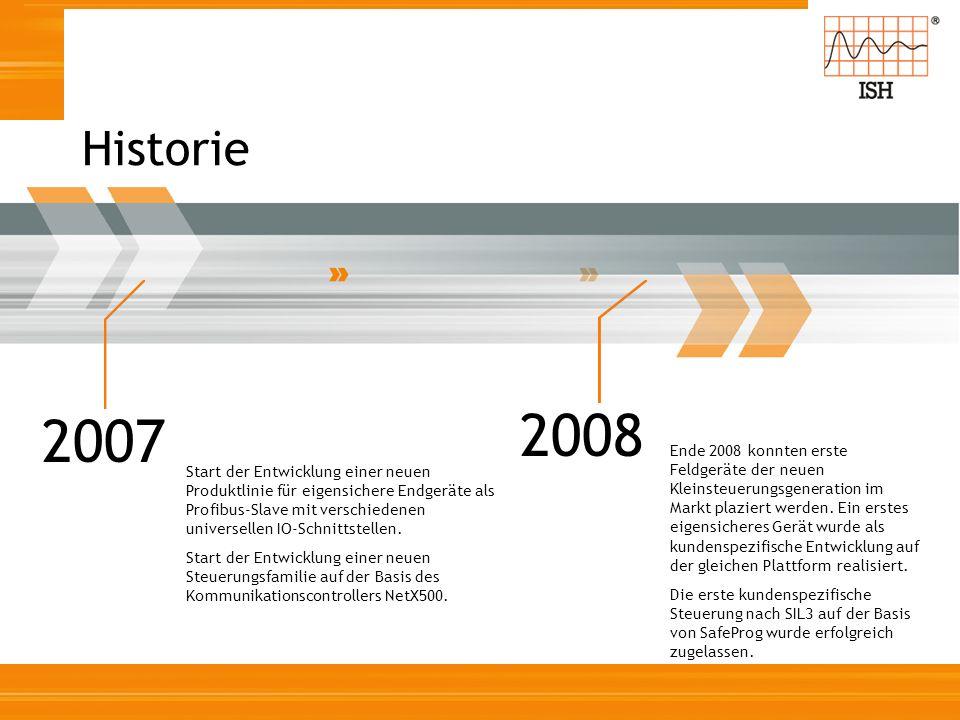 2007 Start der Entwicklung einer neuen Produktlinie für eigensichere Endgeräte als Profibus-Slave mit verschiedenen universellen IO-Schnittstellen. St