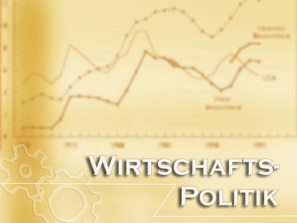 ARTEN VON WIRTSCHAFTSPOLITIK Ordnungspolitik Zielt auf die Rahmenbedingungen ab, unter denen die Wirtschaftssubjekte ihre Entscheidungen fällen.