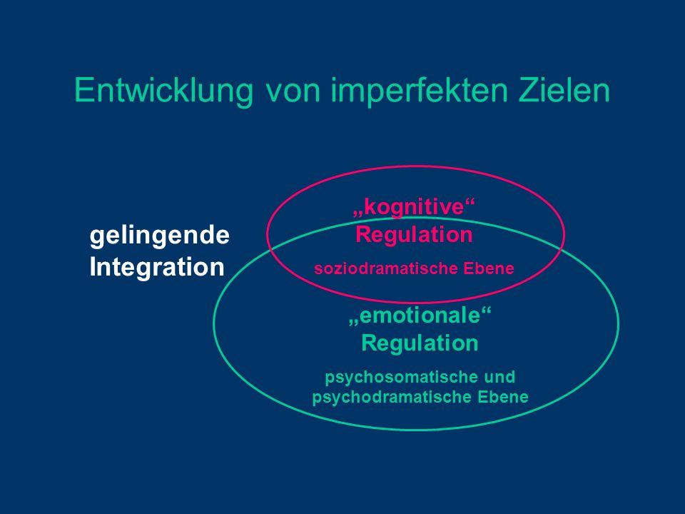 Entwicklung von imperfekten Zielen gelingende Integration emotionale Regulation psychosomatische und psychodramatische Ebene kognitive Regulation sozi