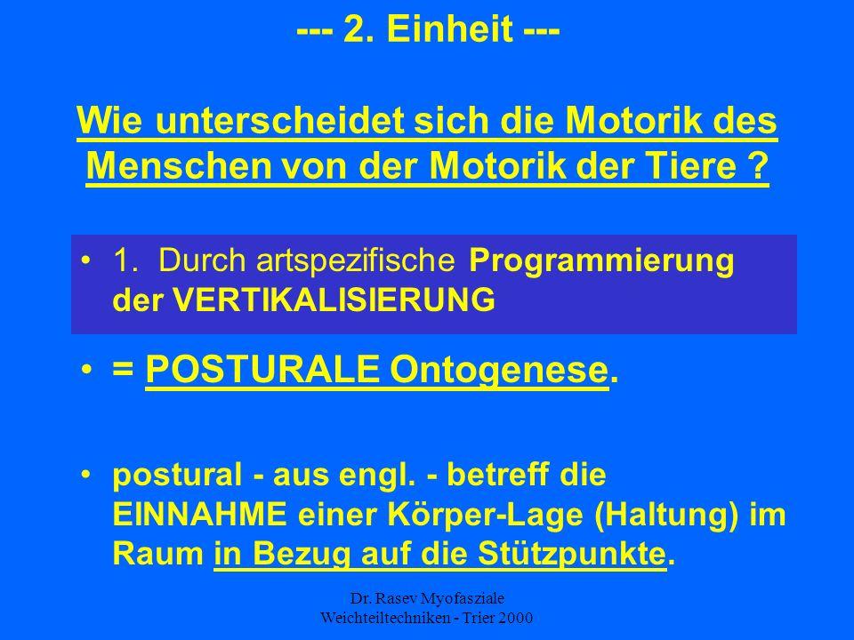 Dr.Rasev Myofasziale Weichteiltechniken - Trier 2000 --- 2.