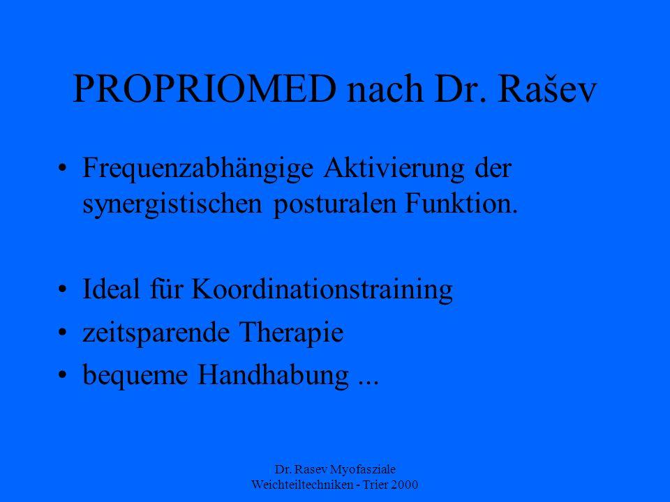 Dr.Rasev Myofasziale Weichteiltechniken - Trier 2000 PROPRIOMED nach Dr.