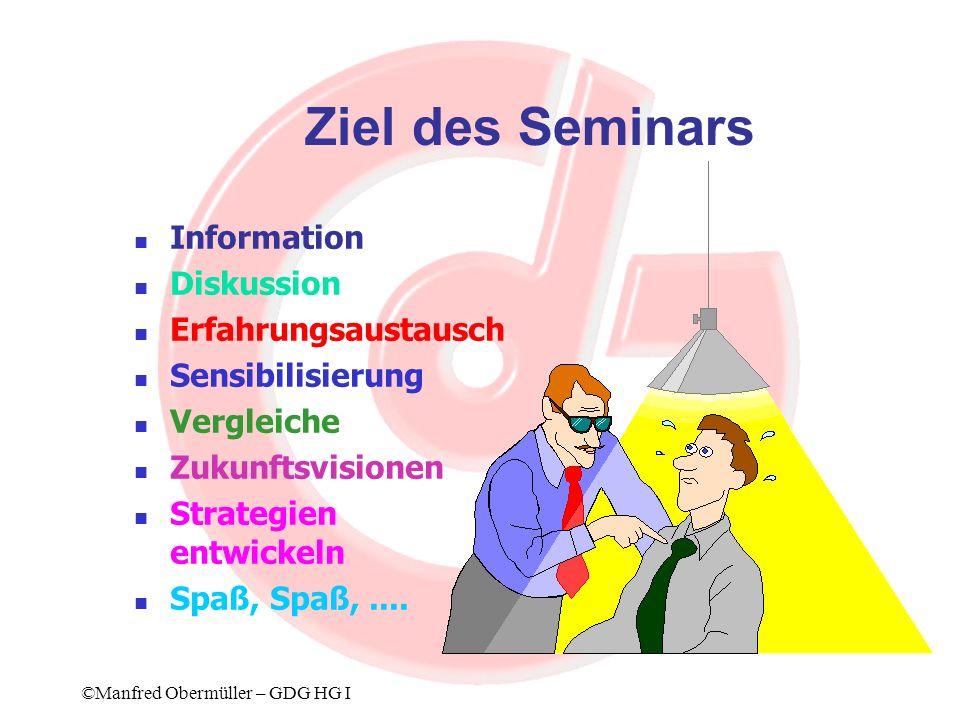 Kontraktmanagement (3) Rahmenbedingungen Einerseits gesetzliche Voraussetzungen, andererseits z.B.Personal- und Sachaufwand ©Manfred Obermüller – GDG HG I