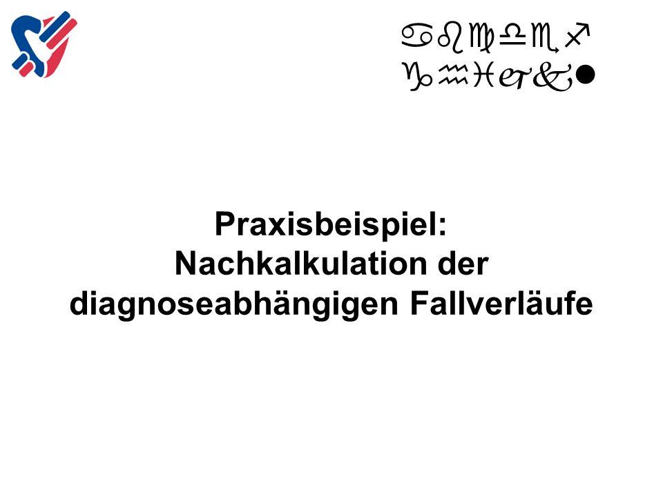 Praxisbeispiel: Nachkalkulation der diagnoseabhängigen Fallverläufe abcdef ghijkl Copyright Inselspital