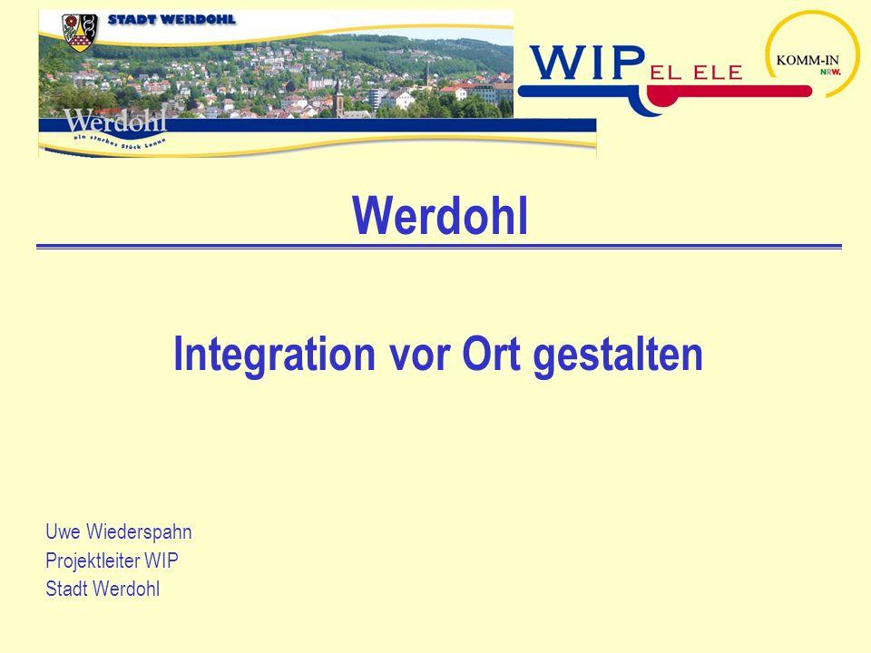 Integration vor Ort gestalten Hintergrund – Situation in Werdohl Integrationskonzept Querschnittsaufgaben und Projekte
