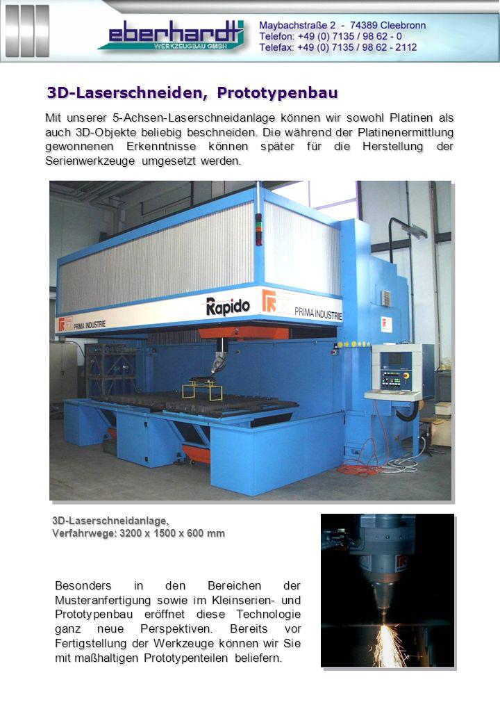 3D-Laserschneiden, Prototypenbau Mit unserer 5-Achsen-Laserschneidanlage können wir sowohl Platinen als auch 3D-Objekte beliebig beschneiden.