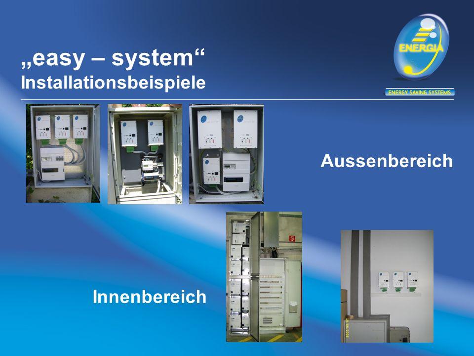 easy – system Installationsbeispiele Aussenbereich Innenbereich