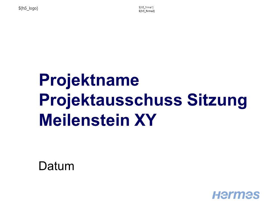 ${h5_logo} ${h5_firma1} ${h5_firma2} Projektname Projektausschuss Sitzung Meilenstein XY Datum
