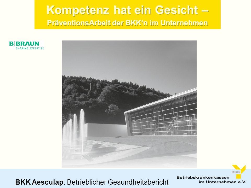 Kompetenz hat ein Gesicht – PräventionsArbeit der BKKn im Unternehmen BKK Aesculap: Betrieblicher Gesundheitsbericht