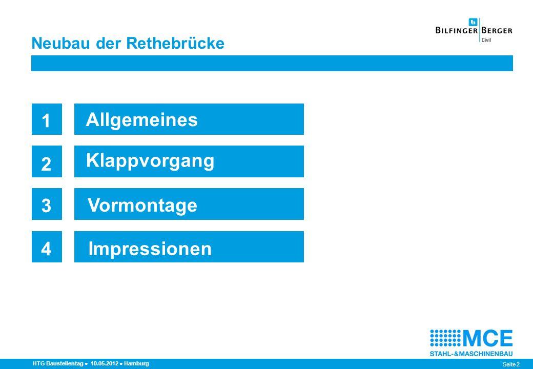 Seite 33 HTG Baustellentag 10.05.2012 Hamburg Öffnungswinkel 0° - Verkehrslage Neubau der Rethebrücke Hochdrücken an das Rückarmlager um +69 mm Vorspannung: -174 mm