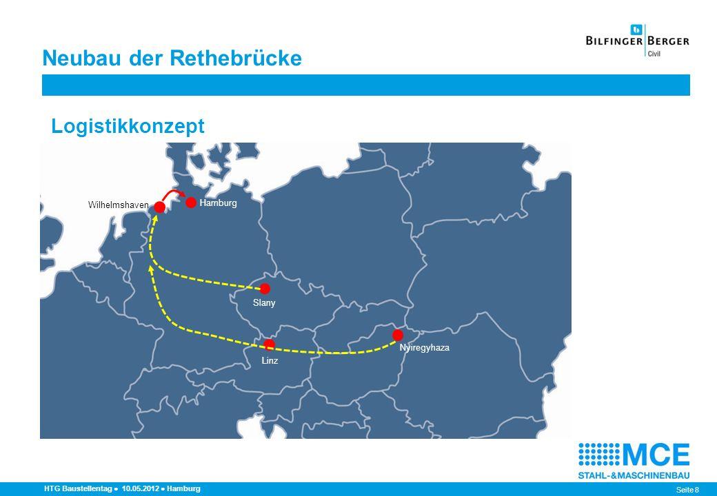 Seite 9 Neubau der Rethebrücke HTG Baustellentag 10.05.2012 Hamburg Bauteile - Anzahl, Abmessungen, Gewicht AnzahlAbmessungenGewicht [n]max.