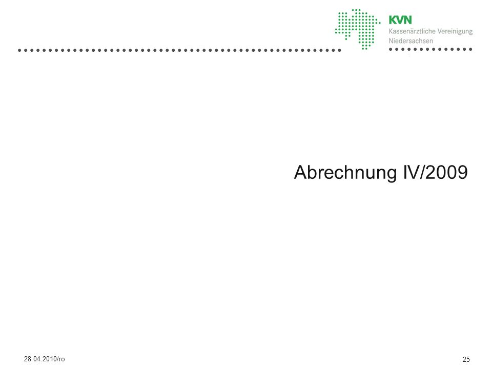Abrechnung IV/2009 28.04.2010/ro 25