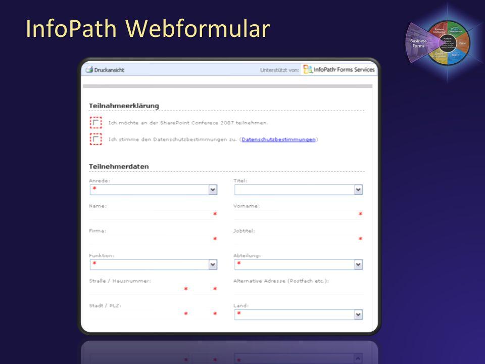 InfoPath Webformular