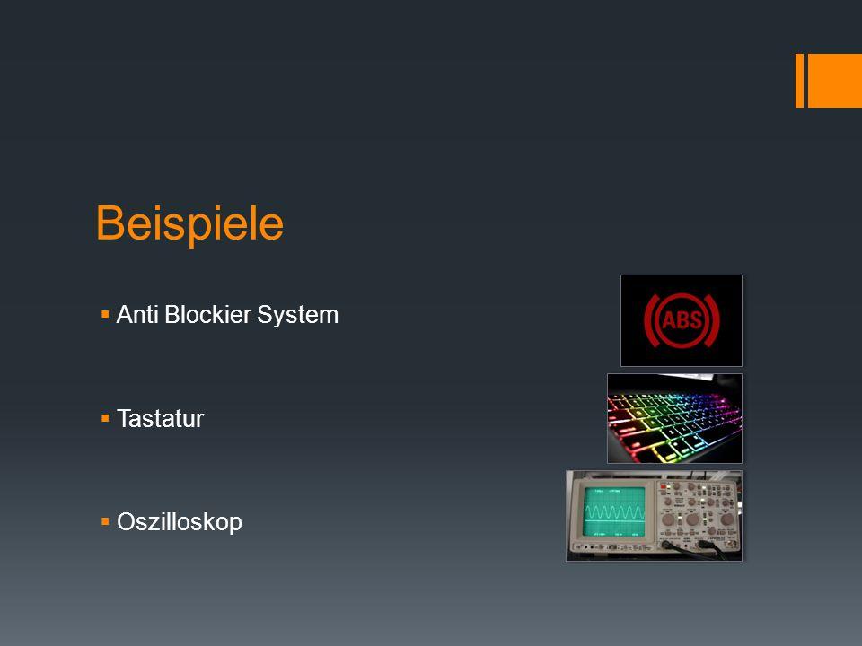 Beispiele Anti Blockier System Tastatur Oszilloskop