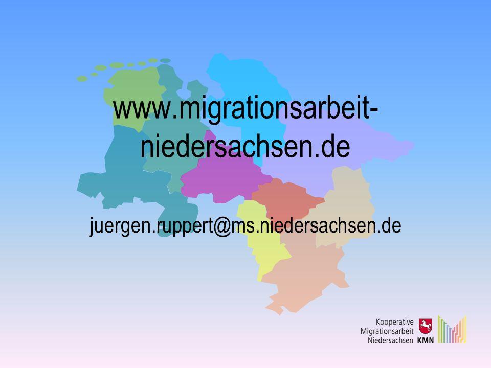 www.migrationsarbeit- niedersachsen.de juergen.ruppert@ms.niedersachsen.de
