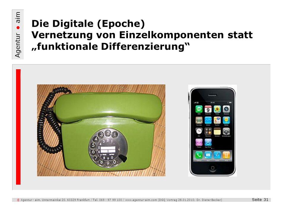 Agentur aim Seite 31 © Agentur - aim, Untermainkai 20, 60329 Frankfurt / Tel. 069 - 97 99 100 / www.agentur-aim.com (DGQ Vortrag 28.01.2010; Dr. Diete