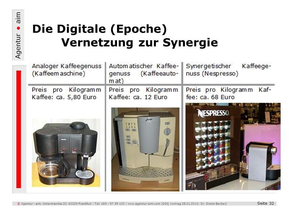 Agentur aim Seite 32 © Agentur - aim, Untermainkai 20, 60329 Frankfurt / Tel. 069 - 97 99 100 / www.agentur-aim.com (DGQ Vortrag 28.01.2010; Dr. Diete