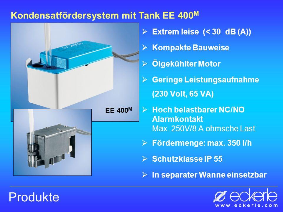 Extrem leise (< 30 dB (A)) Kompakte Bauweise Ölgekühlter Motor Geringe Leistungsaufnahme (230 Volt, 65 VA) Hoch belastbarer NC/NO Alarmkontakt Max. 25