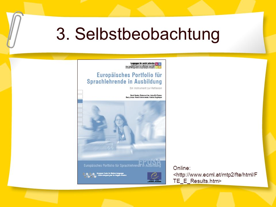 3. Selbstbeobachtung Online:
