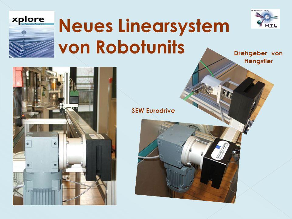 Neues Linearsystem von Robotunits SEW Eurodrive Drehgeber von Hengstler