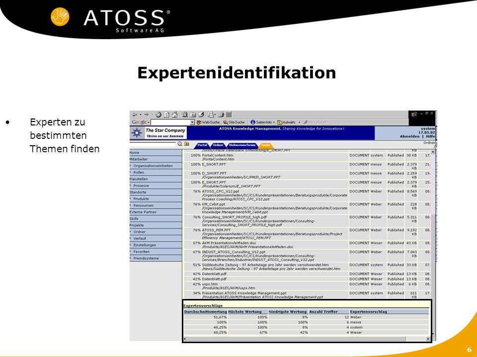 6 Expertenidentifikation Experten zu bestimmten Themen finden