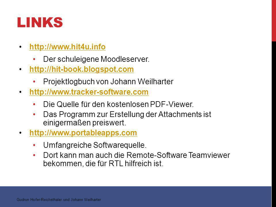 LINKS http://www.hit4u.info Der schuleigene Moodleserver.