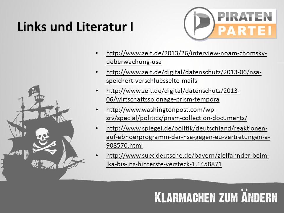 Links und Literatur I http://www.zeit.de/2013/26/interview-noam-chomsky- ueberwachung-usa http://www.zeit.de/2013/26/interview-noam-chomsky- ueberwach