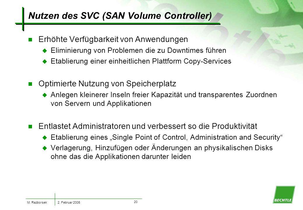 2. Februar 2005 M. Razborsek 19 Warum Virtualisierung .