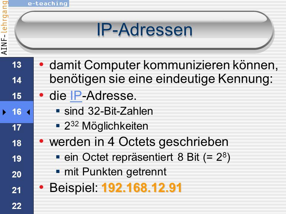 Client & Server Client verbindet sich mit einem Webbrowser zu einem Server: der HTTP-Dienst wird angefordert Das eMail-Programm kommuniziert mit dem e
