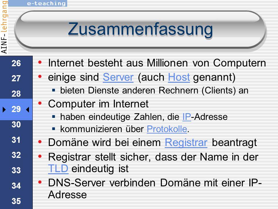 25 26 27 28 29 30 31 32 33 34 35 Namen Server Sobald sie den Namen www.bytebros.cc im Browser eintippen, werden ein oder mehrere DNS-Server angefragt